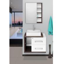 Gabinete para Banheiro Lótus 60 46x60x42cm Branco e Amêndoa Fabribam