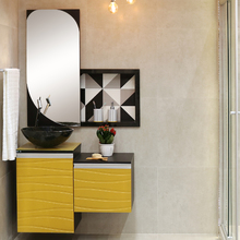 Gabinete para Banheiro Marsala 40x45x43cm Onix e Caja Mazzu