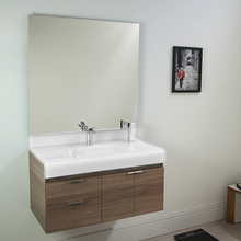 Gabinete para Banheiro Mireille 53x80x46cm Marrom e Branco Bergan