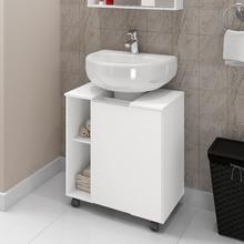Gabinete Para Banheiro de Coluna Pequin 61,5x53,3x37,5cm Branco Moveis Bechara