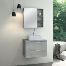 Gabinete para Banheiro Santorini 47x60x40 Cimenticio Astral Design