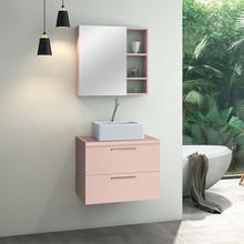 Gabinete para Banheiro Santorini 47x60x40 Rosa Astral Design