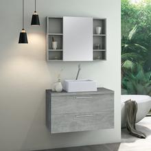 Gabinete para Banheiro Santorini 47x80x40 Cimeticio Astral Design