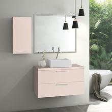 Gabinete para Banheiro Santorini 47x80x40cm Rosa Milk Astral Design