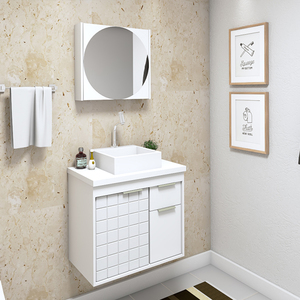 Gabinete para Banheiro Sevilha  59x55x37Cm Branco  Darabas Agardi