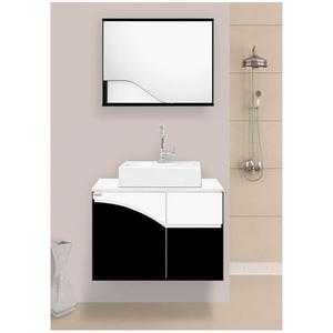 Gabinete para Banheiro Stille 43x60x42cm Branco e Preto Fabribam