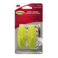 Gancho Adesivo 1,3kg Médio Plástico Amarelo Command