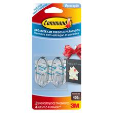 Gancho Command Pequeno Transparente 2 Unidades 3M