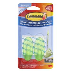 Gancho Command Transparente Verde