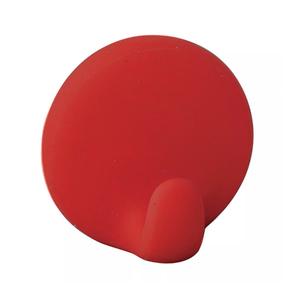 Gancho para Pano Adesivo Plástico Vermelho Importado