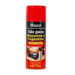 Gás para Maçarico e Fogareiro 400ml GI-4000 Western