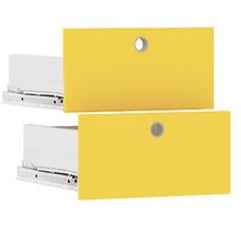 Gaveta Kit Quadrado Madeira Amarelo 34x34cm Cube Luciane