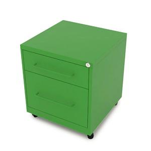 Gaveteiro aço Verde Office 2 gavetas 50x48zx63CM