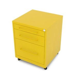 Gaveteiro aço Amarelo Office 3 gavetas 64x48x51cm