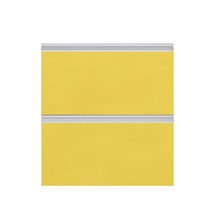 Gaveteiro Basculante Cristal Amarelo 70x59,7x50cm Grenoble Delinia