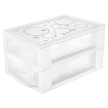 Gaveteiro Bel Plástico 2 Gavetas 11,5x14,3x21,4 Colorido Ordene