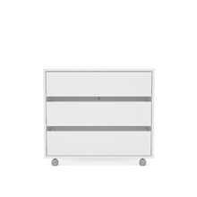 Gaveteiro Branco com Rodas 64x72,50x45cm Closet Politorno