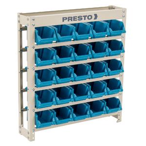 Kit Estante Gaveteiro 25/3 Prática Azul Presto