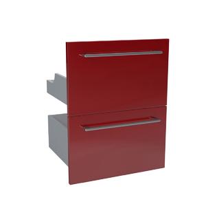 Gaveteiro Modular Madeira vermelho 57,4x44,7x30cm Remix Sensea