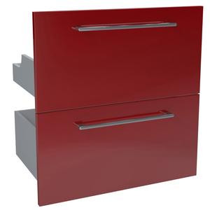Gaveteiro Modular Madeira vermelho 57,4x59,7x40cm Remix Sensea