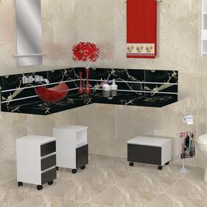 Gaveteiro Modular para Banheiro Madeira Branco 328x475x350cm Módulo Flex Sicmol