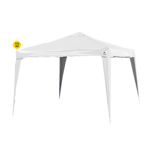 Gazebo Alumínio/Poliéster Quadrado Articulável 3x3m Branco Belfix