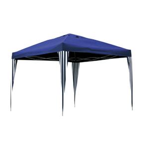 Gazebo Poliéster Dobrável Azul 2,5x3x3m