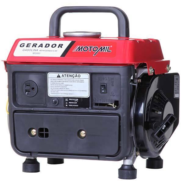 4272d22e69d Gerador a gasolina 220V 800W 2 tempos MG-950 63cc Motomil