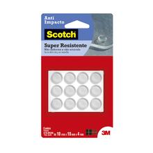 Gota de Silicone Anti-Impacto Adesivo Circular Incolor 10mm 12 unidades