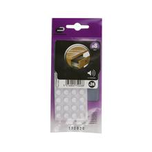 Gota de Silicone Anti-Impacto Circular Incolor 8mm 24 unidades