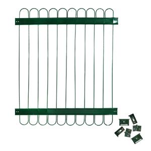 Grade de Aço Pintado Gradil Universal com Ferragens Verde 80x90cm