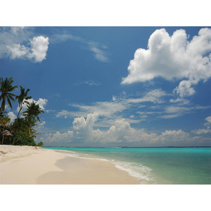 Gravura Praia e Céu 18x24cm