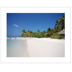Gravura Praia Azul 24x30cm