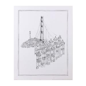 Gravura 27,9x35,6cm Cidade Molducenter