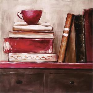 Gravura Chá e Leitura 30x30cm