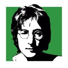 Gravura Green Lennon 30x30cm