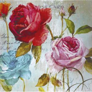 Gravura Rosa Antiga 30x30cm