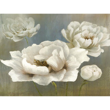 Gravura Flores Brancas 30x40cm