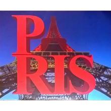 Gravura Paris Vermelha 30x40cm