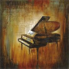 Gravura Piano 38x38cm