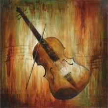 Gravura Violino 38x38cm