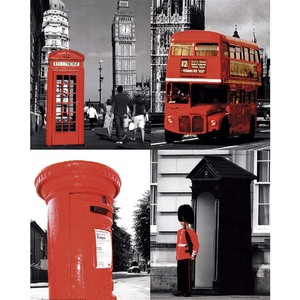 Gravura Red London 50x40cm