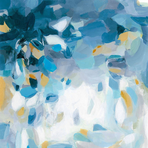 Gravura Aquarela Abstrata 47x47cm