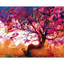 Gravura Árvore Rosa 40x50cm