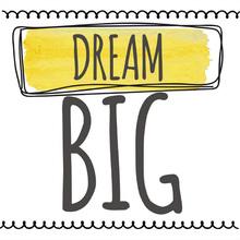 Gravura Dream Big 20x20cm