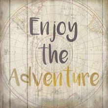 Gravura Enjoy The Adventure 20x20cm