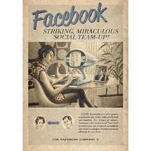 Gravura Facebook 30x21cm