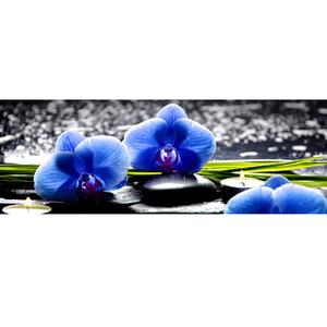 Gravura Flor Azul 10x35cm