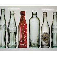 Gravura Garrafas da Coca 40x50cm