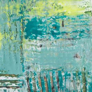 Gravura Horizonte Abstrato 38x38cm